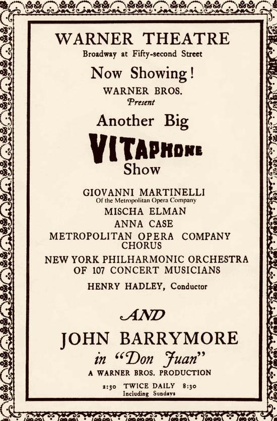 Don Juan Vitaphone poster