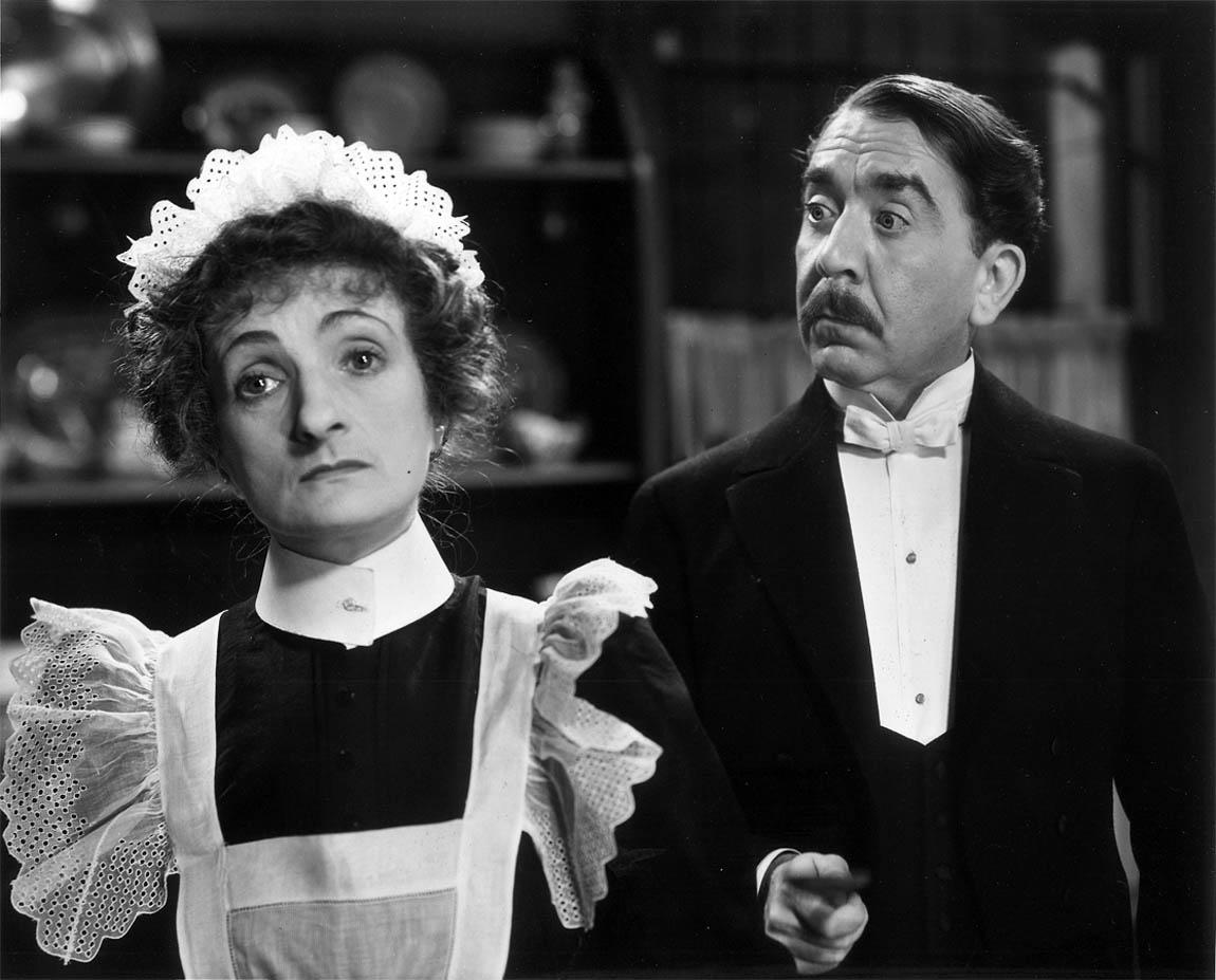 Herbert Mundin with Una O'Connor in Cavalcade as Alfred and Ellen Bridges