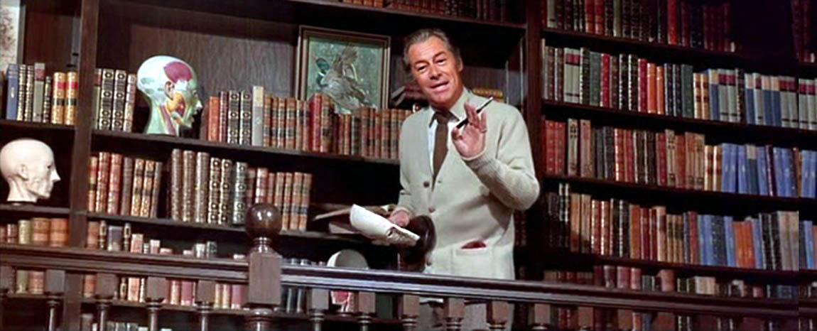 Rex Harrison in a scene from My Fair Lady as Henry Higgins