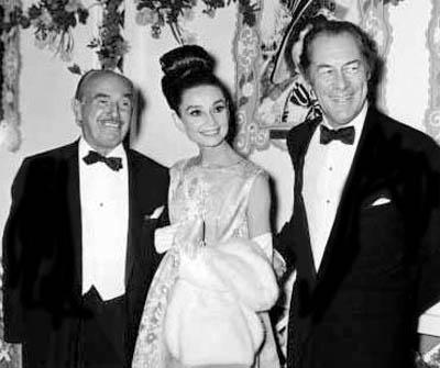 Jack Warner, Audrey Hepburn and Rex Harrison